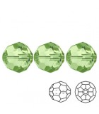 Faceted Round Swarovski 5000 - Peridot AB 3mm - 10pcs