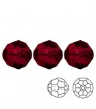 Faceted Round Swarovski 5000 - Siam AB 3mm - 10pcs