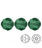 Faceted Round Swarovski 5000 - Emerald AB 3mm - 10pcs