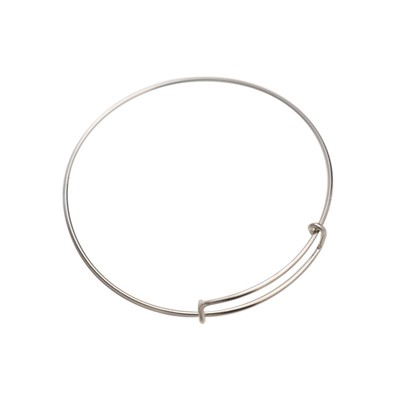 Silver Plated Closed Bracelet 62X1,5mm