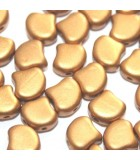 Czech Glass Ginko Beads - Bronze Gold 7,5mm - 10gr