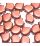 Czech Glass Ginko Beads - Bronze Fire Red 7,5mm - 10gr