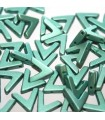 Ava® Beads Metallic Emerald 10x4mm - 10pcs