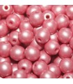 Czech Glass Round Beads - Powdery Pastel Coral 4mm -100pcs