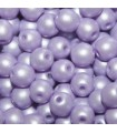 Czech Glass Round Beads - Powdery Pastel Purple 4mm -100pcs