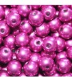 Czech Glass Round Beads - Saturated Metallic Pink Yarrow 4mm -100pcs