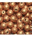 Czech Glass Round Beads - Saturated Metallic Flame 4mm -100pcs
