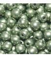 Czech Glass Round Beads - Saturated Metallic Greenery 4mm -100pcs