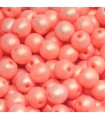 Czech Glass Round Beads - Neon Silk Light Orange 4mm -80pcs
