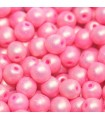 Perline Tondi Vetro di Boemia - Neon Silk Fruit Punch 4mm - 80pz