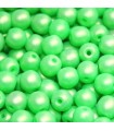 Perline Tondi Vetro di Boemia - Neon Silk Green 4mm - 80pz