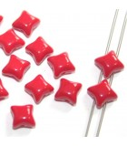 Czech Glass Wibeduo Beads Opaque Red 8x8mm - 300pcs