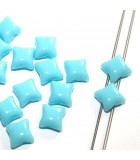Czech Glass Wibeduo Beads Opaque Turquoise 8x8mm - 300pcs