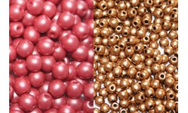 Round Glass Beads in Packs Wholesale